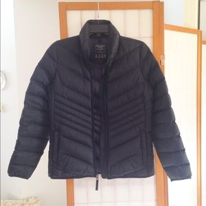 Abercrombie & Fitch Navy Down Puffer Coat